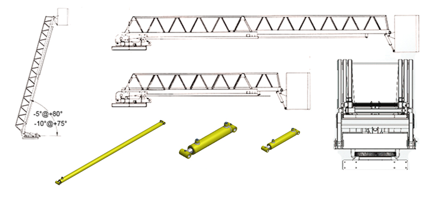 eagle hydraulic cylinders are manufactured with high precision and  repeatability to assure a safe and efficient operation of the work platform